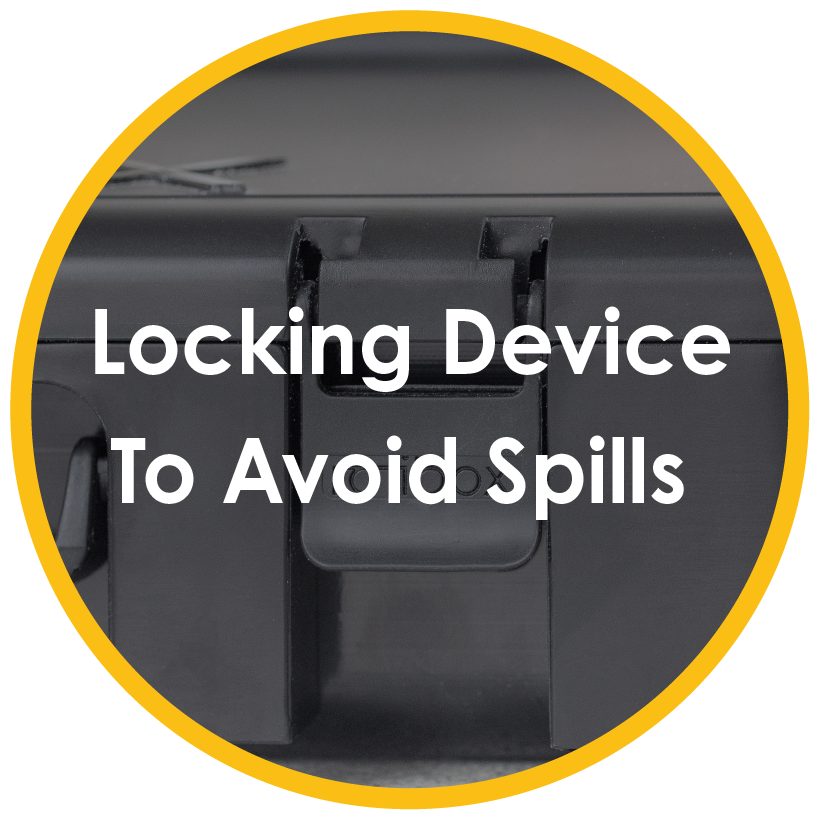 Locking device to avoid spills